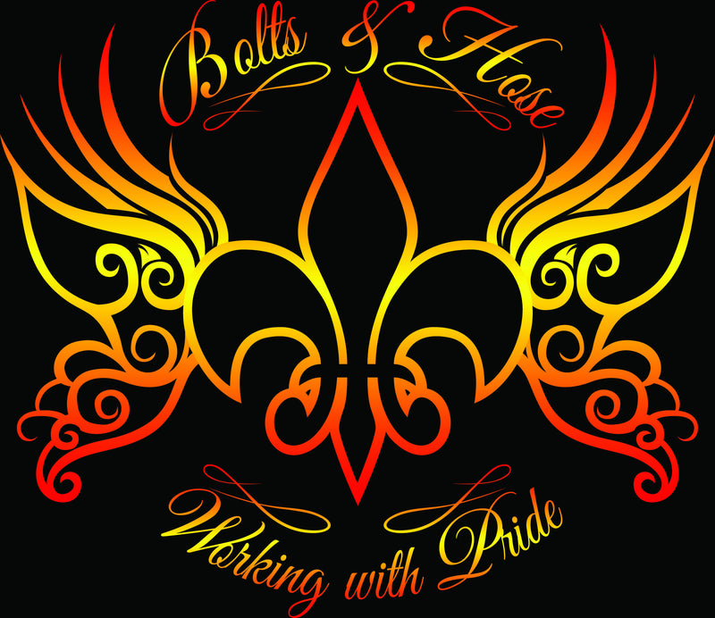 Bolts & Hose Cajun Butterfly let's everyone know you work with pride