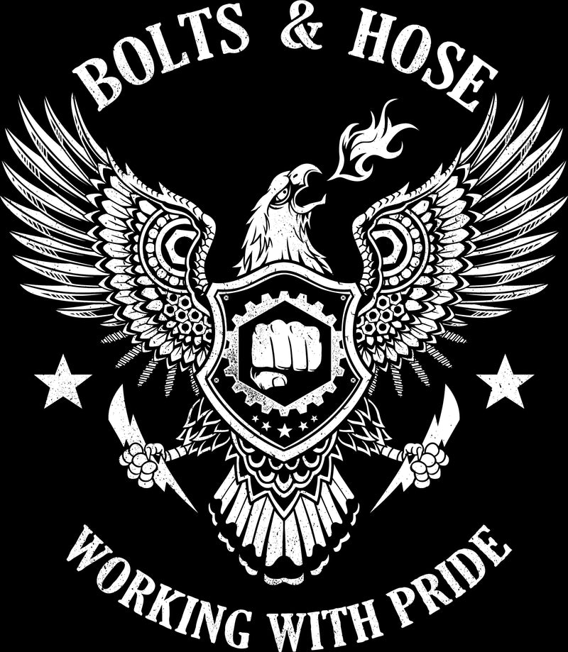 Bolts & Hose Working with Pride Men's Front Print