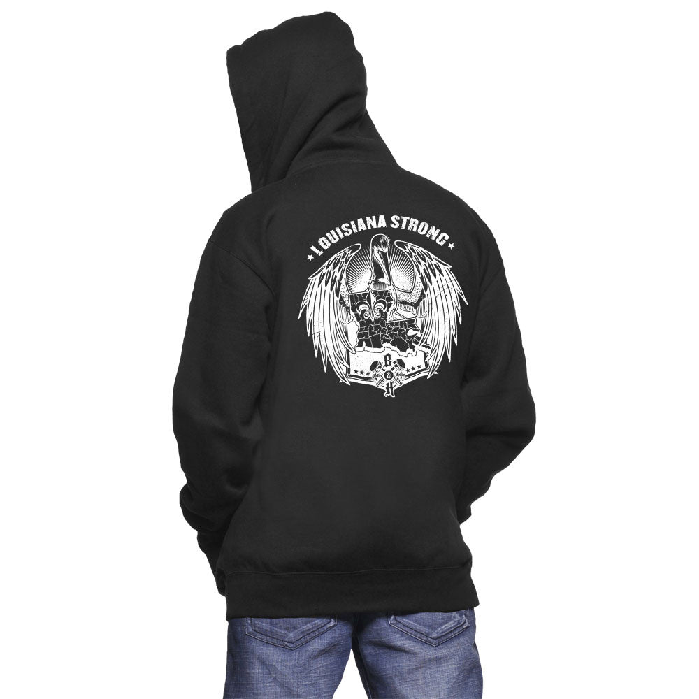 Louisiana Strong Hoodie (White)