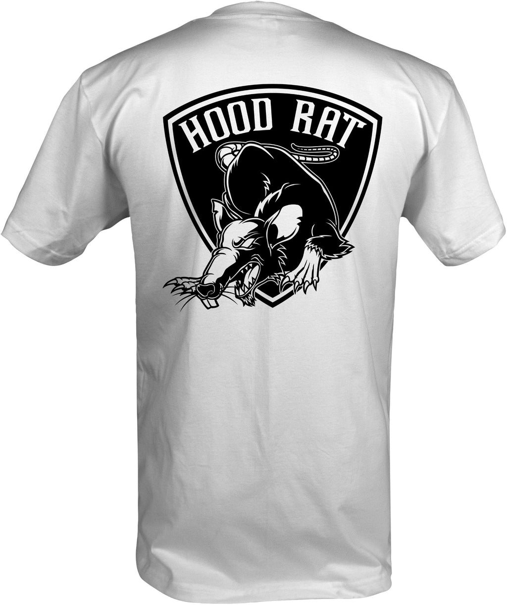 men's shirt, Bolts & Hose and Hood Rat Nation logo for motorcycle riders and tradesmen