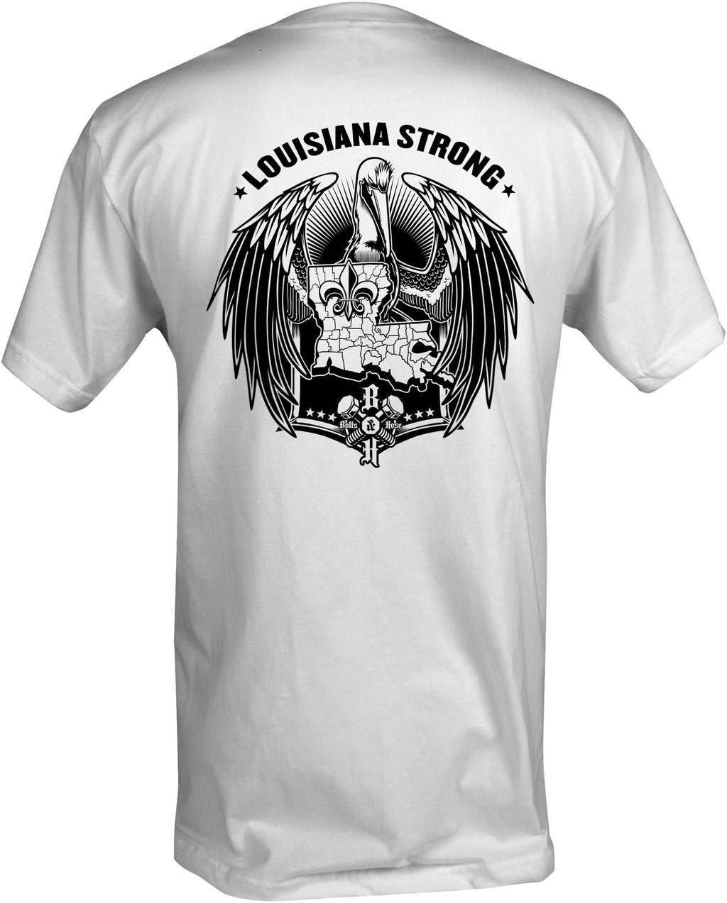 Louisiana Strong (Men's Regular Tee Black)