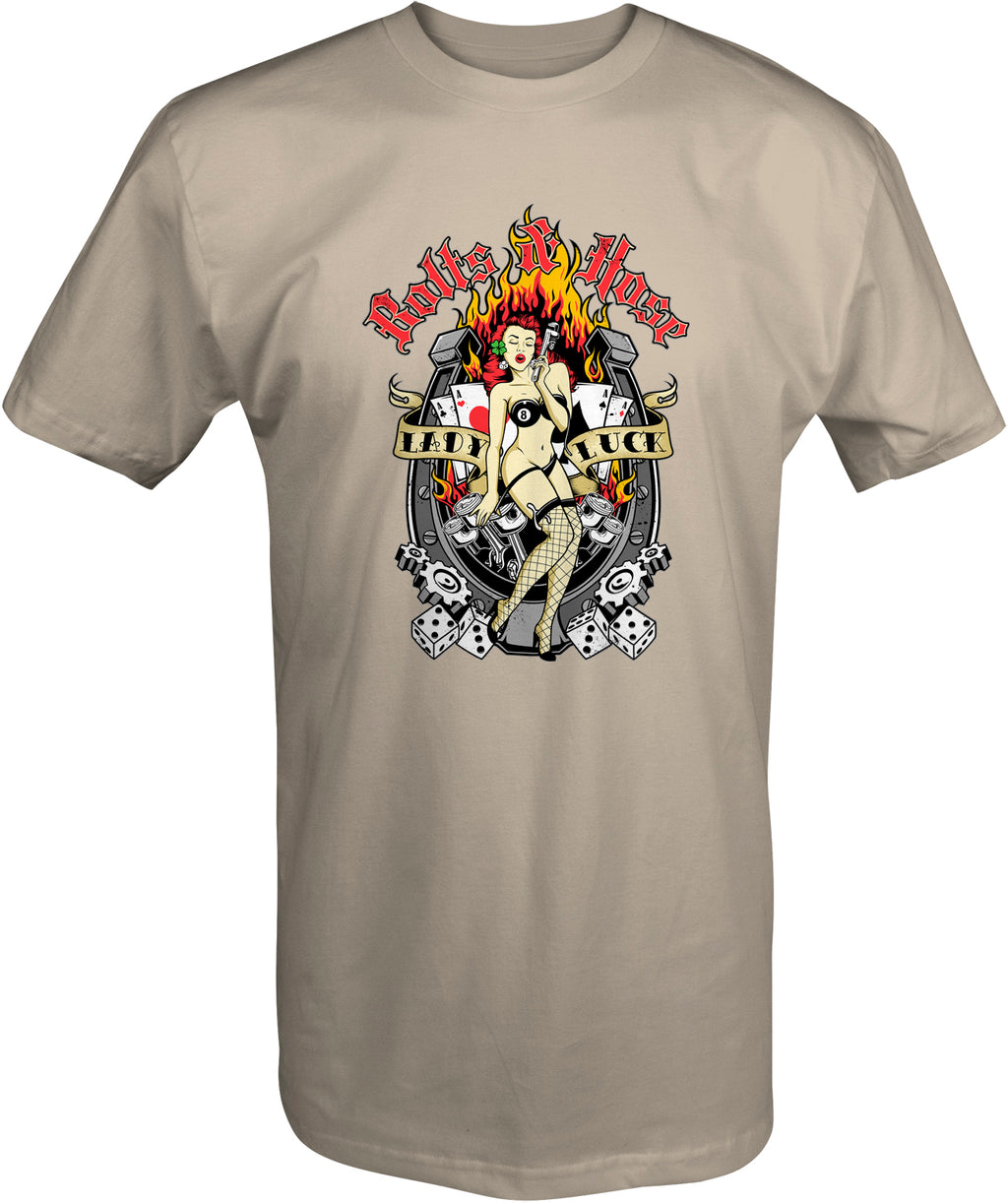 Lady Luck WWII inspired t shirt