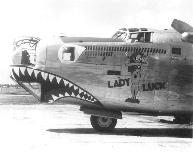 WWII Lady Luck nose art
