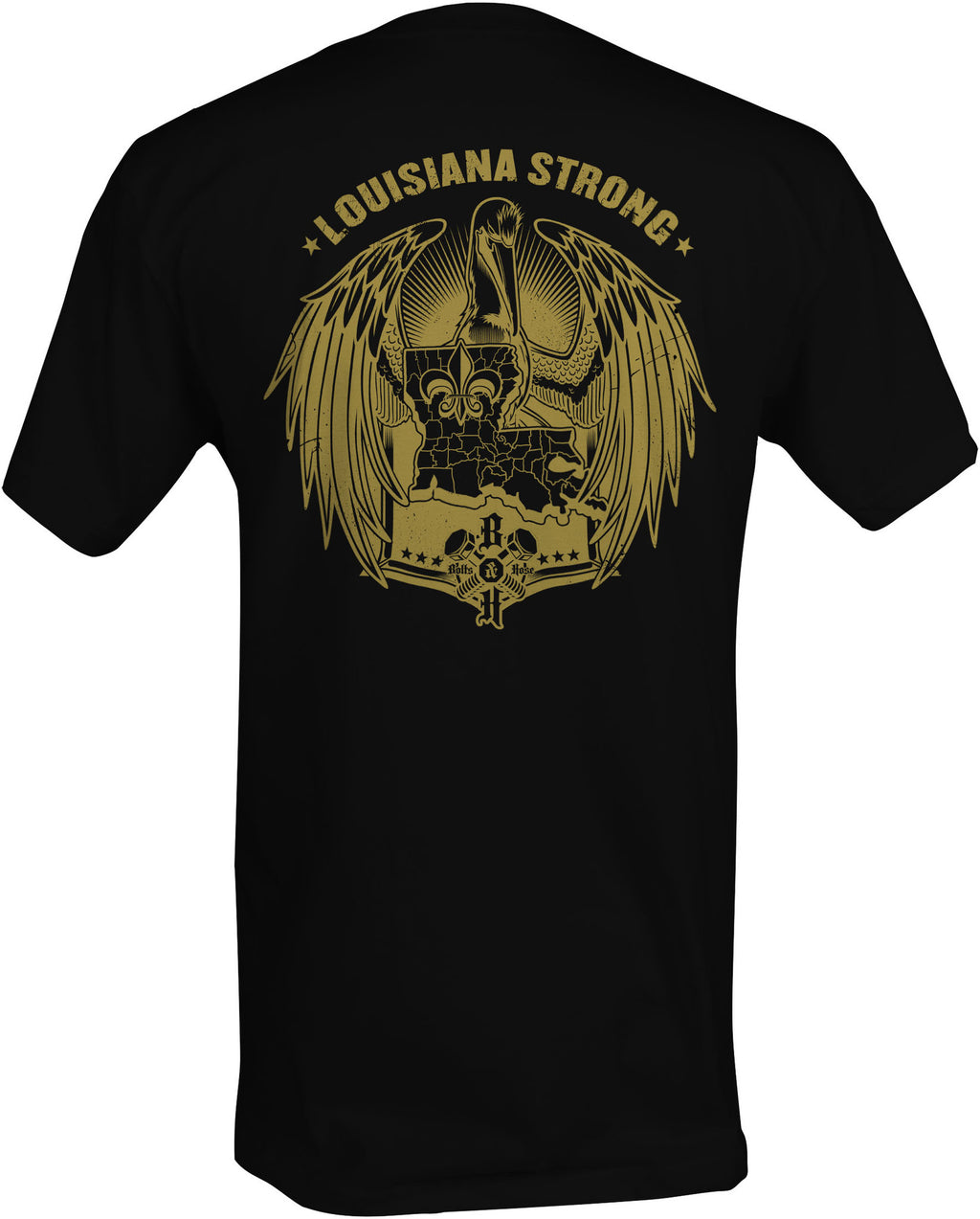 Louisiana Strong (Men's Regular Tee Gold)