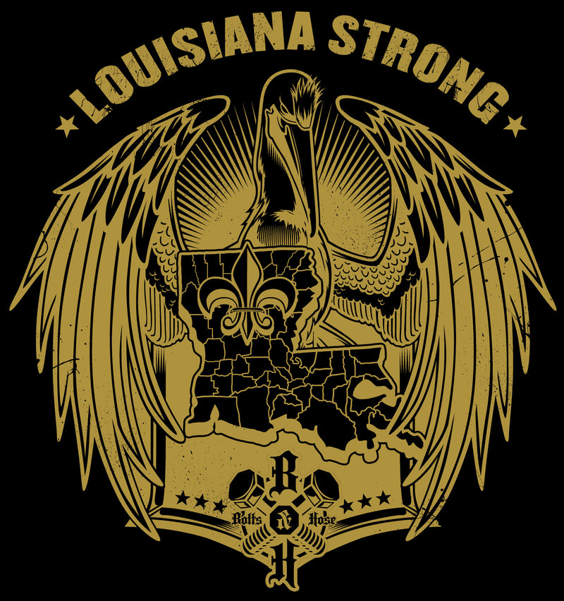 Louisiana Strong Hoodie (Gold)