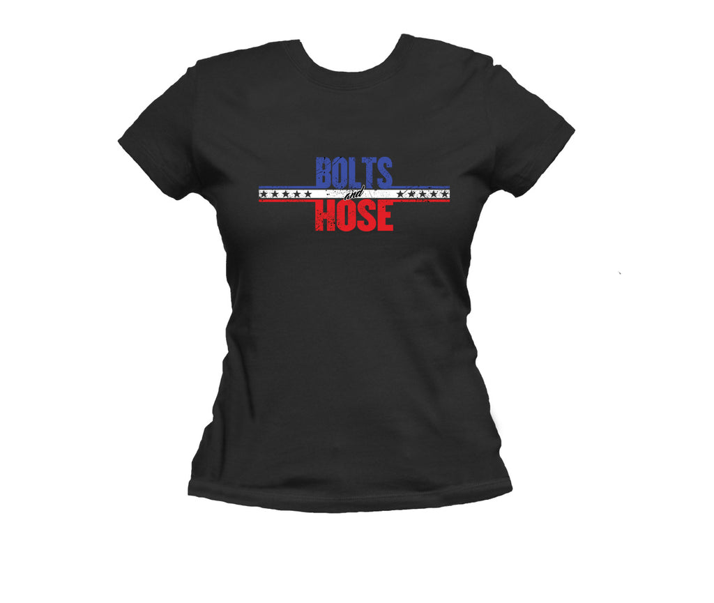 Bolts & Hose Red, White, and Blue Tee