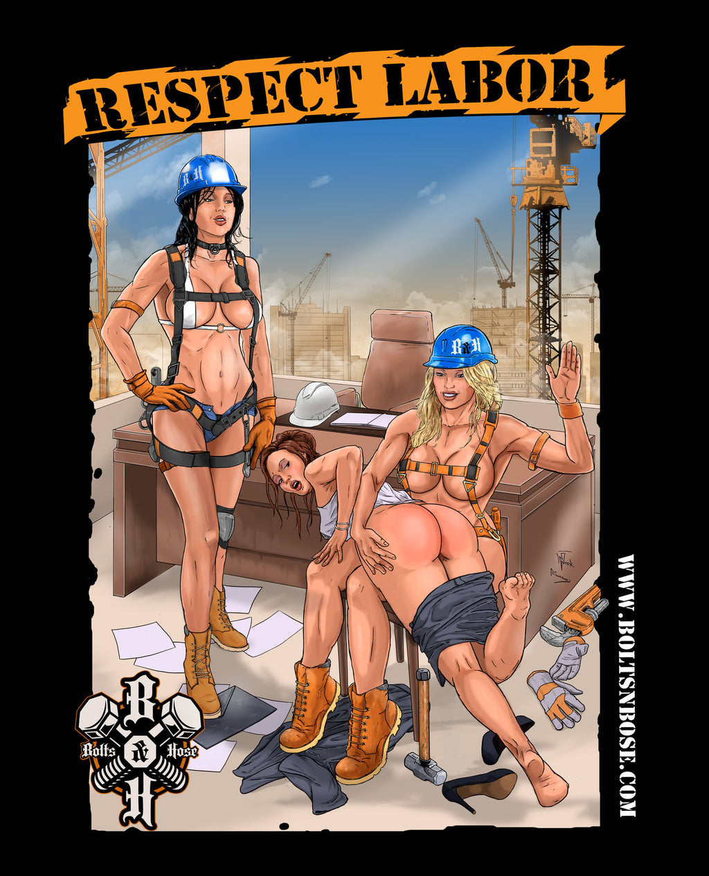 Bolts & Hose™ Respect Labor Vinyl Sticker (Multiple Sizes Available)