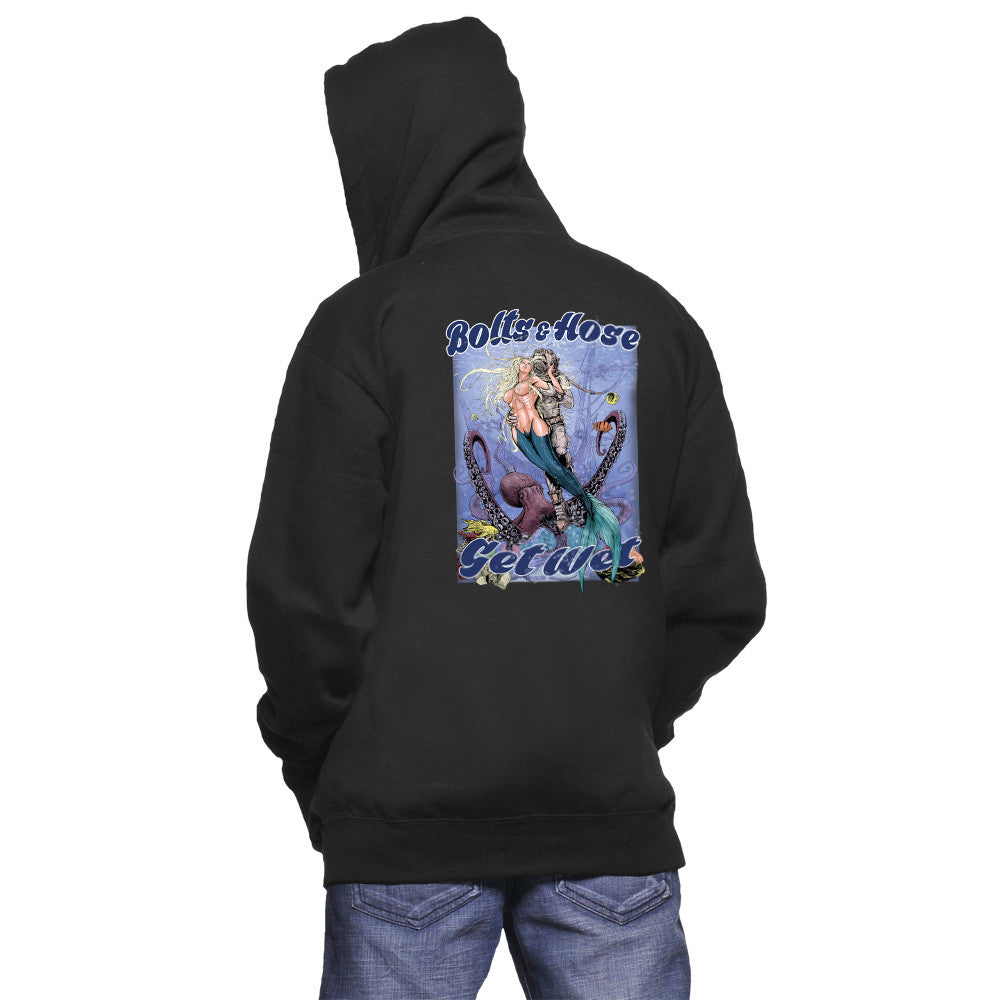 Bolts & Hose Sweatshirt Our old school diver with mermaid is perfect for the commercial diver in your life