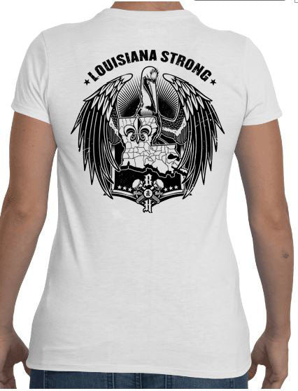 Louisiana Strong (Women's Regular Tee Black)
