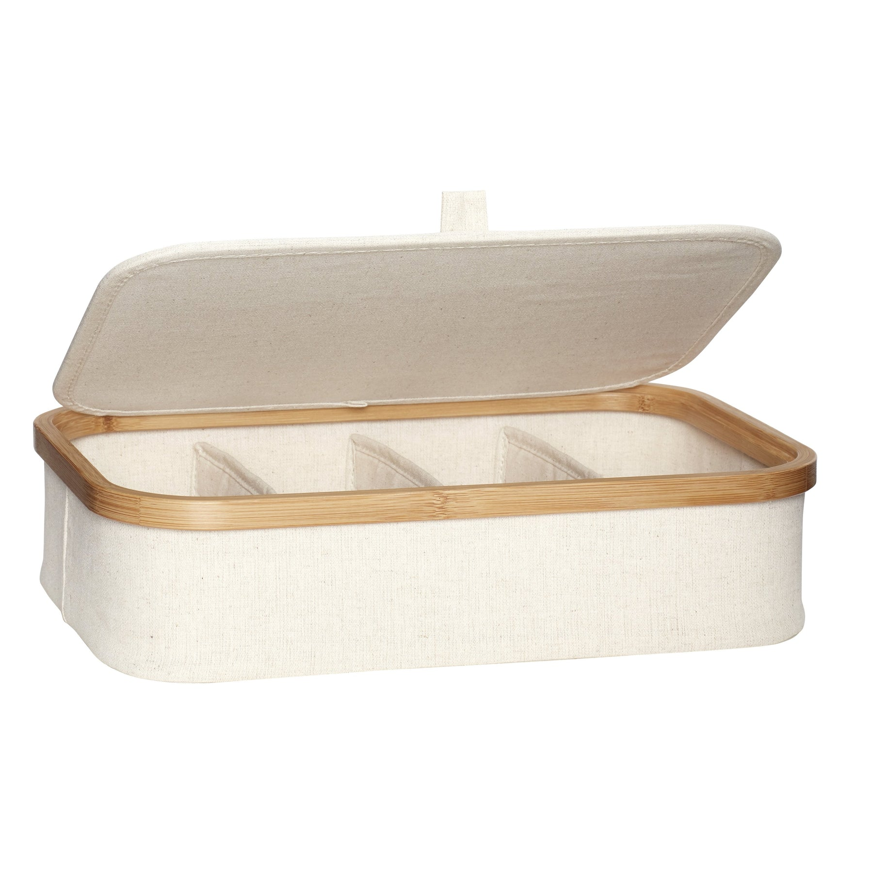 Picture of: Opbevaringskasse M Lag Canvas Bambus Beige Natur S 2 Alma Home