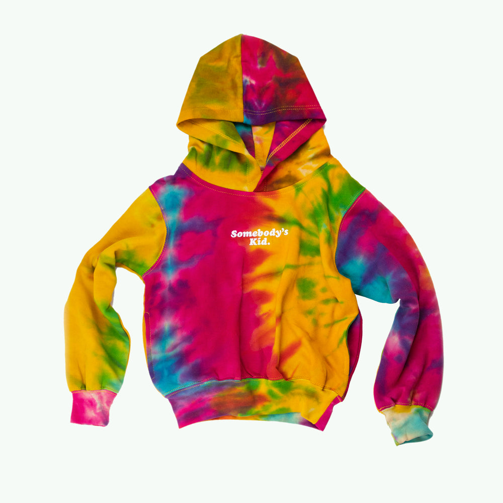Load image into Gallery viewer, Somebody's Kid ( youth ) Rainbow Hoodie