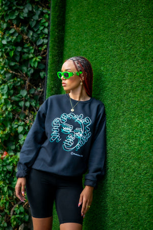 2 Sides - Line Woman Crewneck Sweater