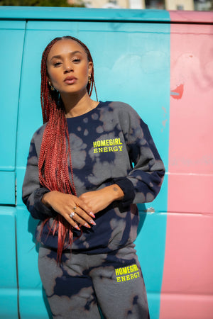 Homegirl Energy Tie Dye  Sweatsuit Top & Bottom