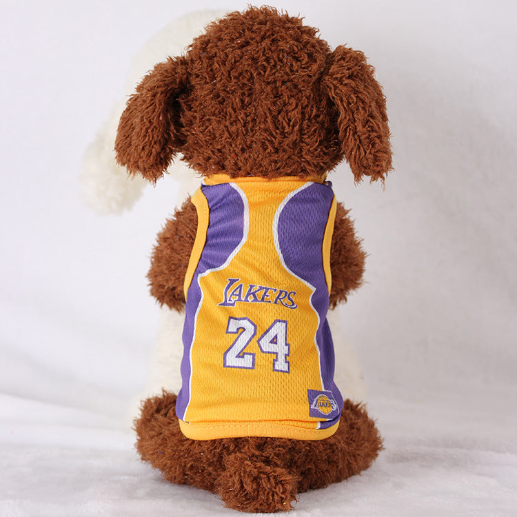 lakers dog jersey 24
