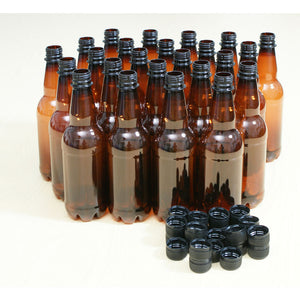 1L Amber Pet Beer Bottles with Caps