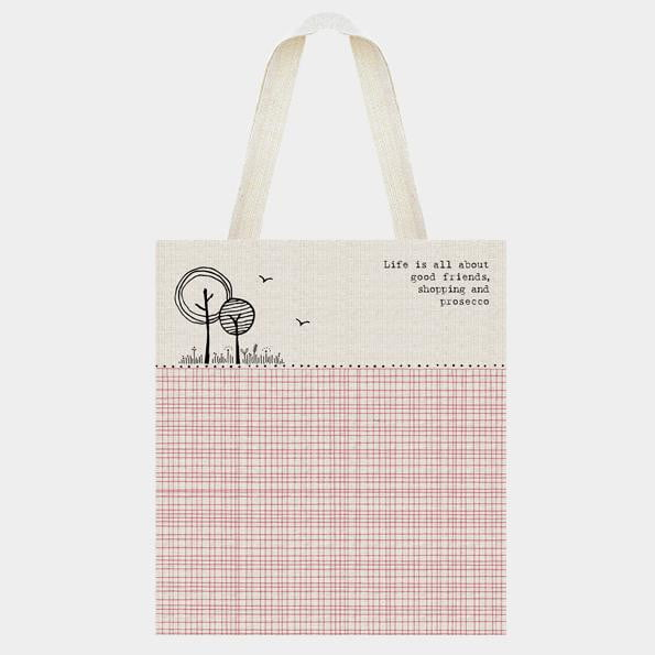 East of India - Canvas Shopping Bag - Life is about good friends (1099) - Hothouse