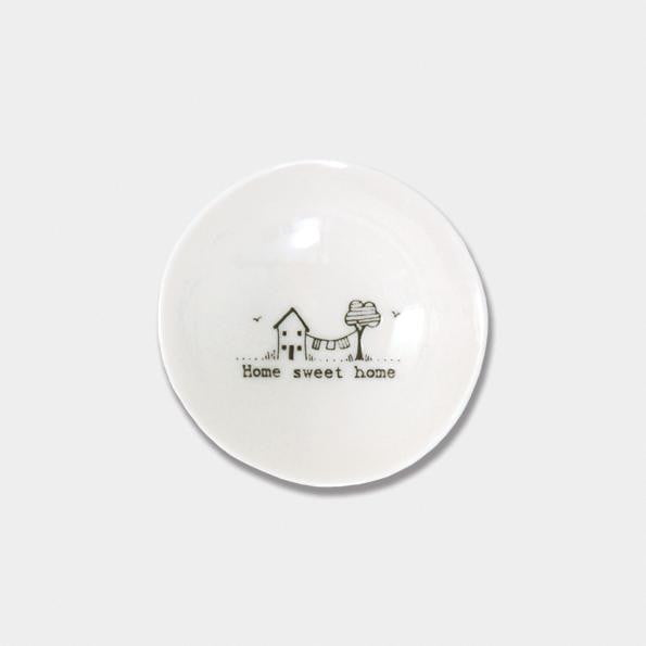 East of India Small Wobbly Porcelain Bowl - Home sweet home (6010)