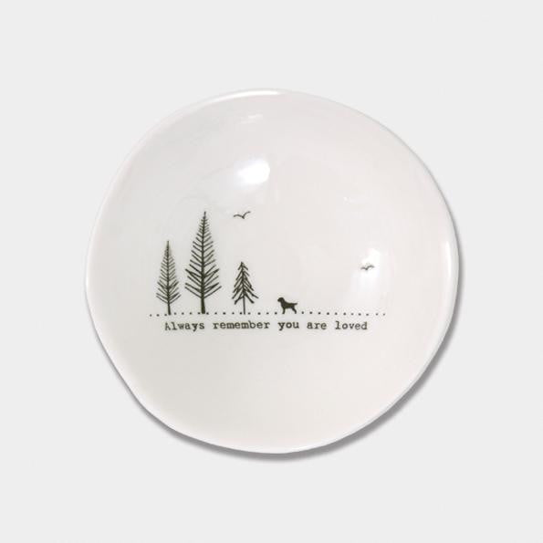 East of India Medium Wobbly Porcelain Bowl - Always remember you are loved (6021) - Hothouse