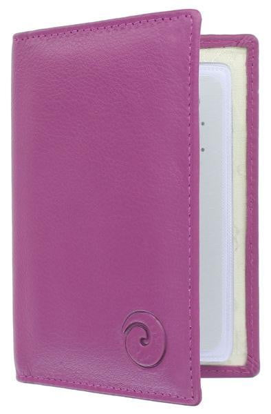Mala Leather Origin Credit Card Holder with RFID (610 5) - Berry