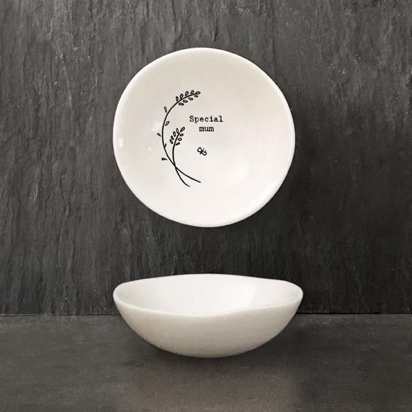 East of India Small Hedgerow Porcelain Bowl - Special Mum (6111)