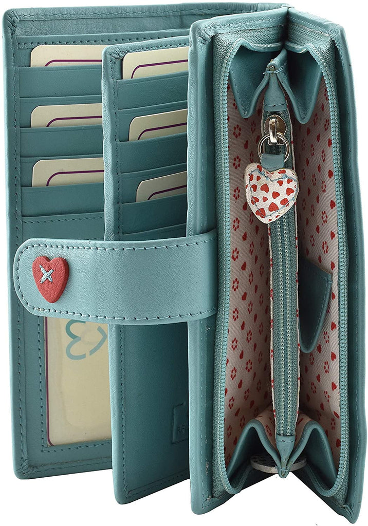 Mala Leather Lucy Large Tab Purse with RFID (3184_30) - available in several colours - Hothouse