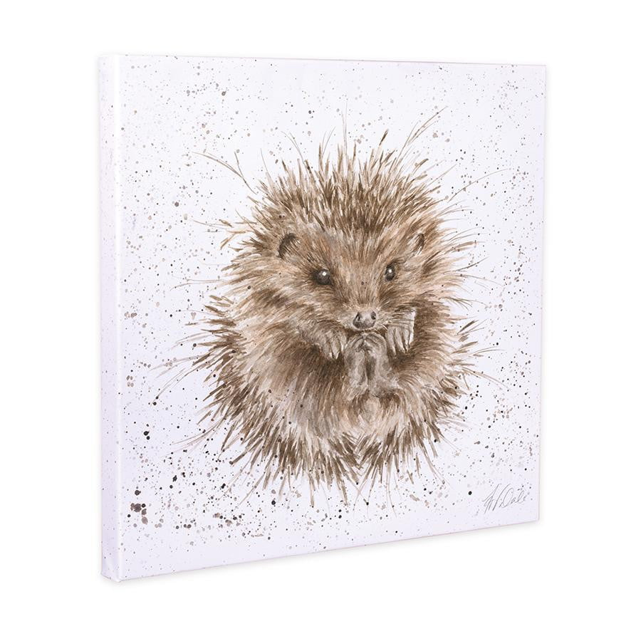 Wrendale Designs - 'Awakening' Hedgehog 20cm Canvas - Hothouse