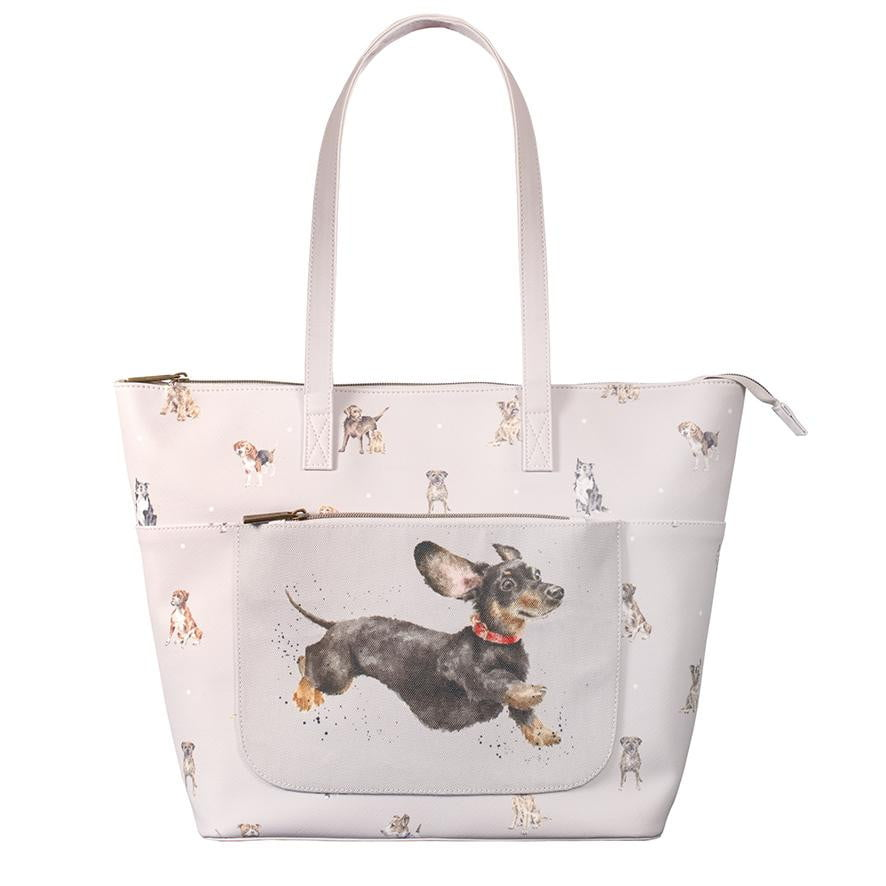 Wrendale Designs - 'A Dog's Life' Everyday Tote Bag - Hothouse