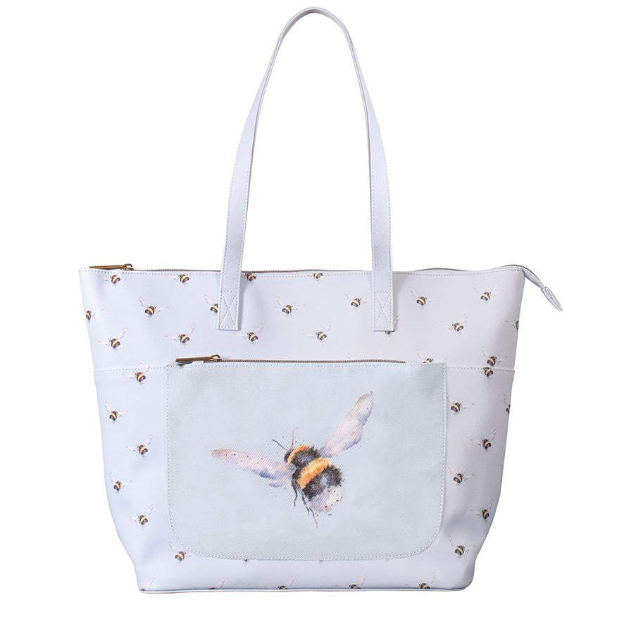 Wrendale Designs - 'Flight of the Bumblebee' Everyday Tote Bag - Hothouse