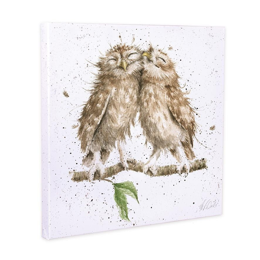 Wrendale Designs - 'Birds of a Feather' Owls 20cm Canvas Print - Hothouse
