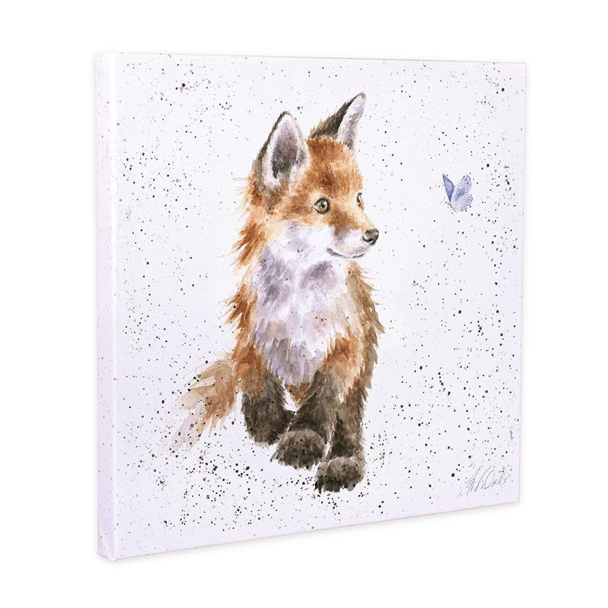 Wrendale Designs - 'Born to be Wild' Fox Cub 20cm Canvas Print - Hothouse