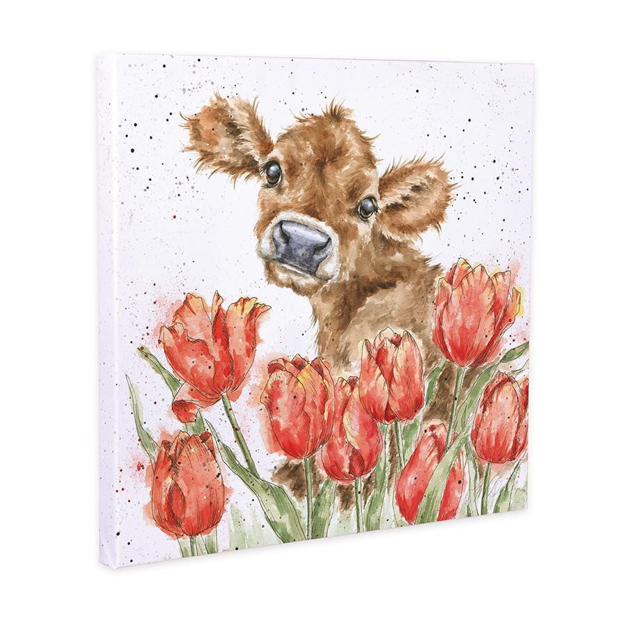 Wrendale Designs 'Bessie' Cow 20cm Canvas Print - Hothouse