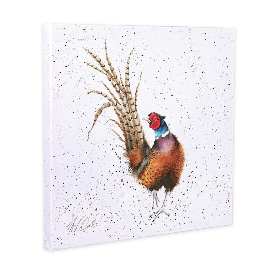Wrendale Designs ''Ready For My Close Up' Pheasant 20cm Canvas Print - Hothouse
