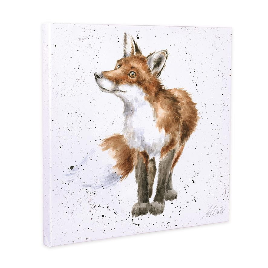 Wrendale Designs 'Bright Eyed and Bushy Tailed' Fox 20cm Canvas Print