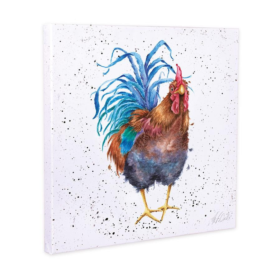 Wrendale Designs 'Colours of the Rainbow' Cockerel 20cm Canvas Print - Hothouse