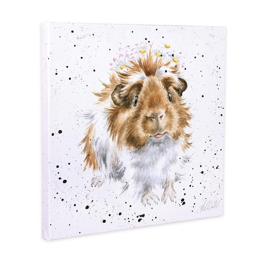 Wrendale Designs 'Grinny Pig' Guinea Pig 20cm Canvas Print - Hothouse
