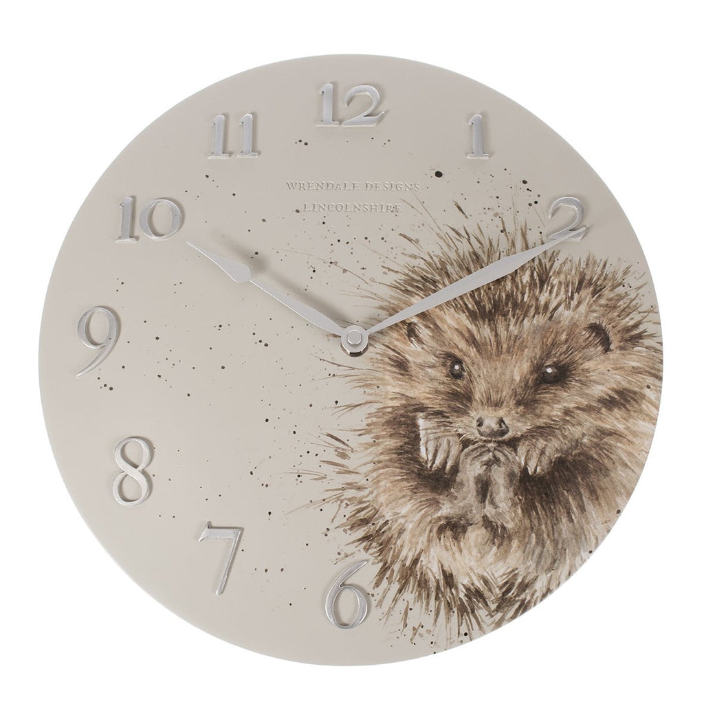 Wrendale Designs Hedgehog Wall Clock - Hothouse