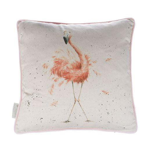 Wrendale Designs - 'Pink Ladies' Flamingo Cushion - Hothouse