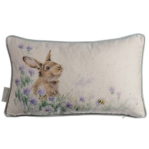 Wrendale Designs - 'Meadow Rabbit' Rectangular Cushion - Hothouse
