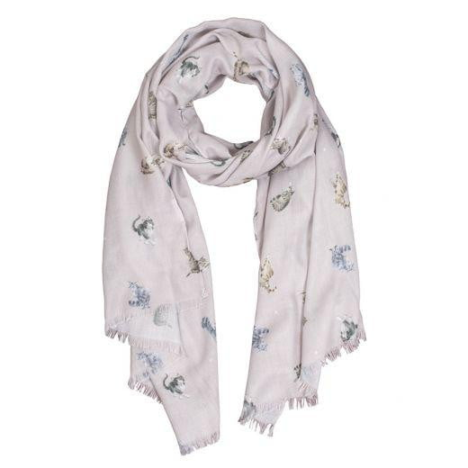 Wrendale 'Glamour Puss' Cat Scarf - Hothouse