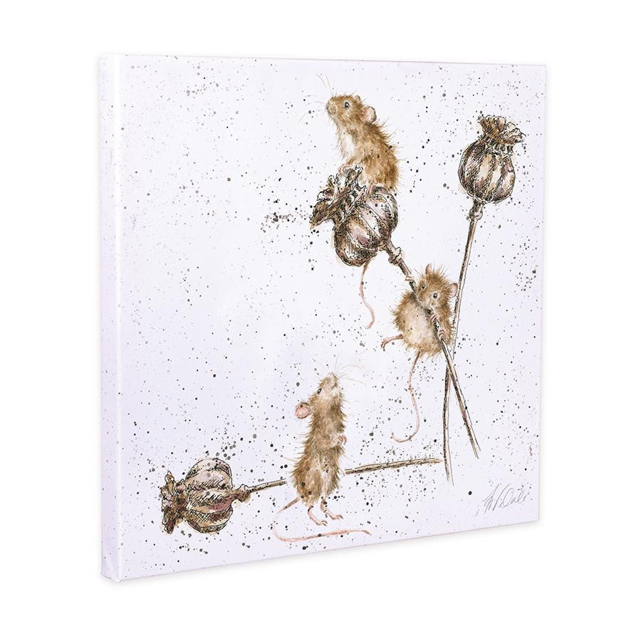 Wrendale Designs - 'Country Mice' 20cm Canvas Print - Hothouse