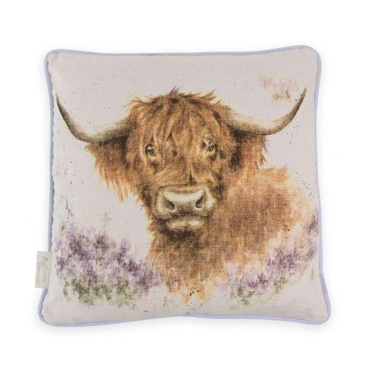 Wrendale Designs - 'Highland Heathers' Cow Cushion - Hothouse