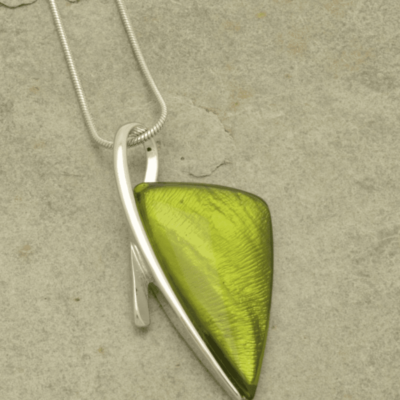 Miss Milly Lime Green Arrow Necklace