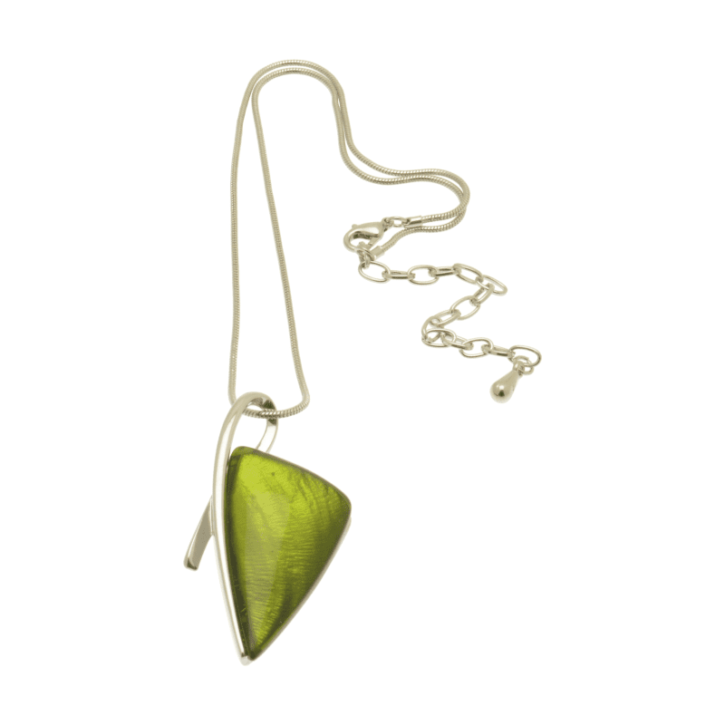 Miss Milly Lime Green Arrow Necklace - Hothouse