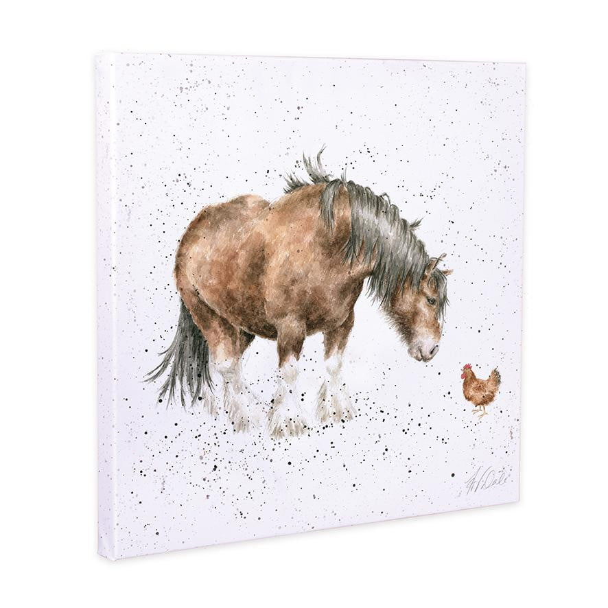 Wrendale Designs - 'Farmyard Friends' Horse 20cm Canvas Print - Hothouse