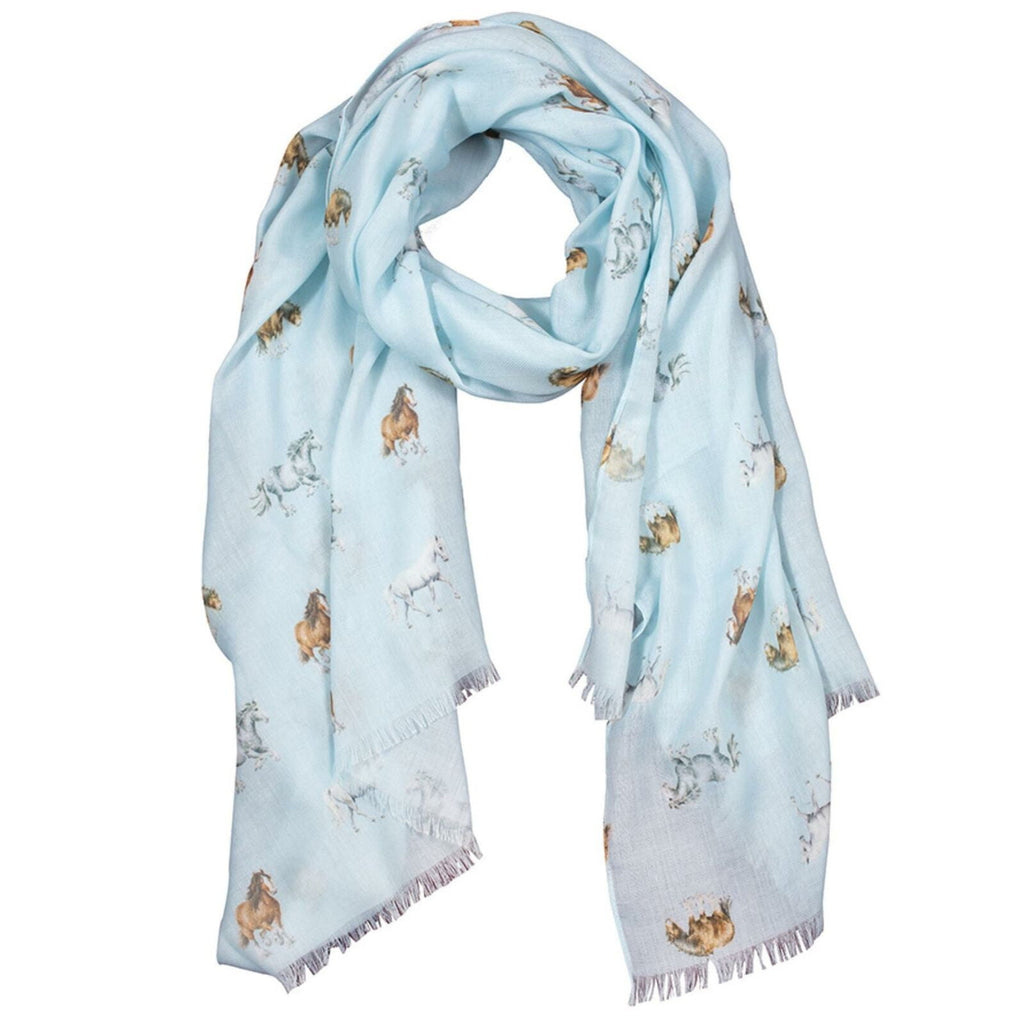 Wrendale Designs 'Feathers and Forelocks' Horse Scarf - Hothouse