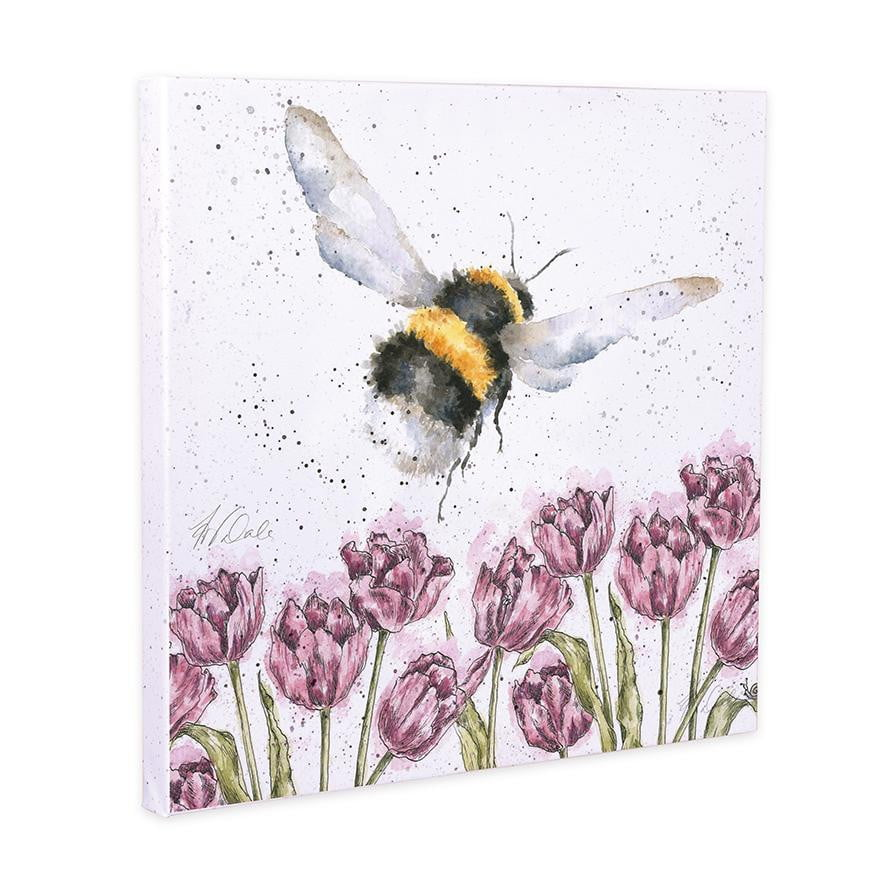 Wrendale Designs 'Flight of the Bumblebee' 20cm Canvas Print - Hothouse