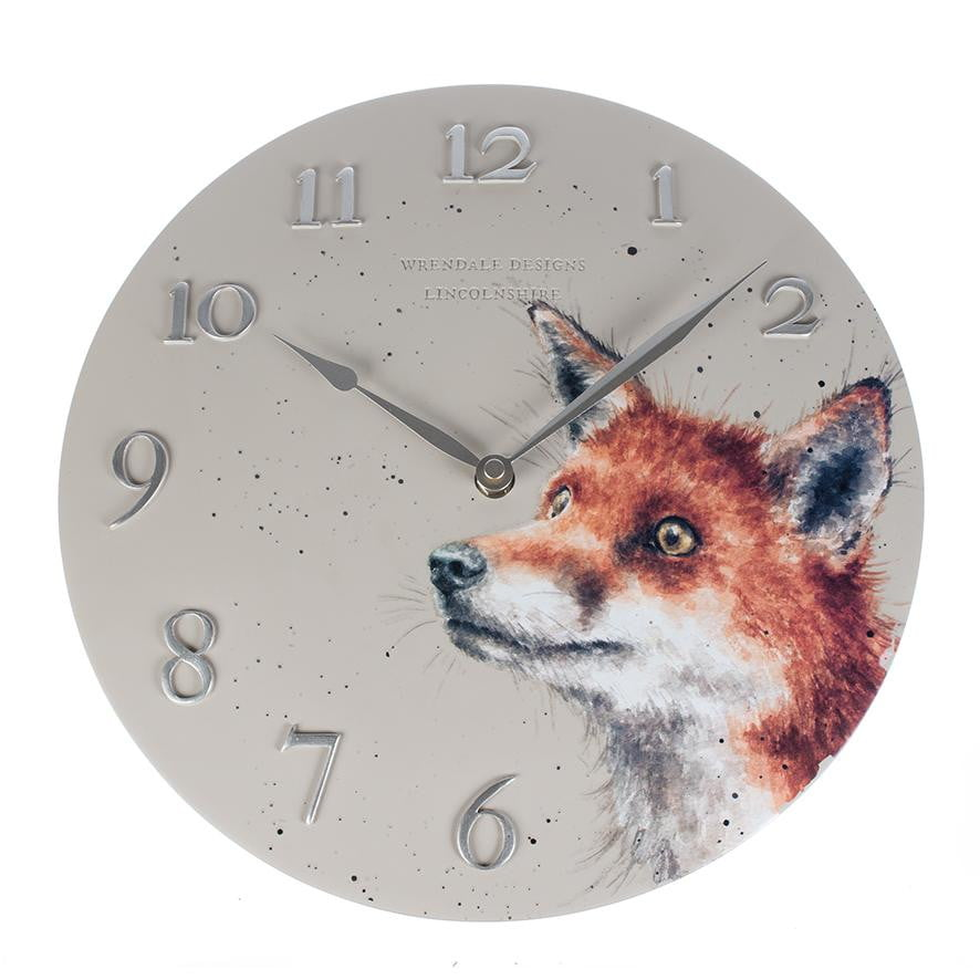 Wrendale Designs - Fox Wall Clock - Hothouse