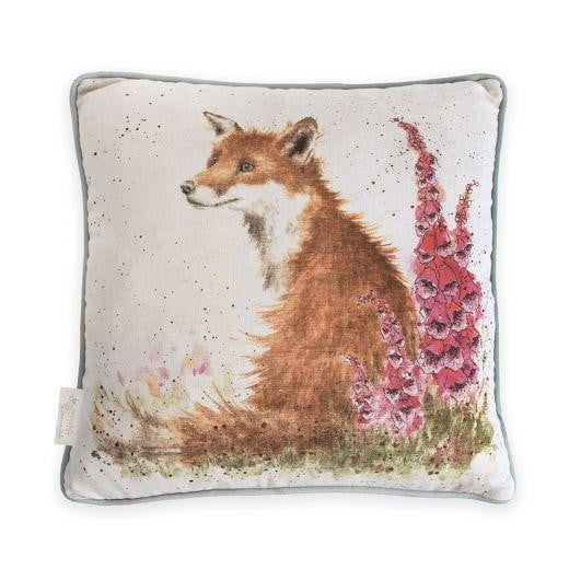 Wrendale Designs - 'Foxgloves' Fox Cushion by Hannah Dale
