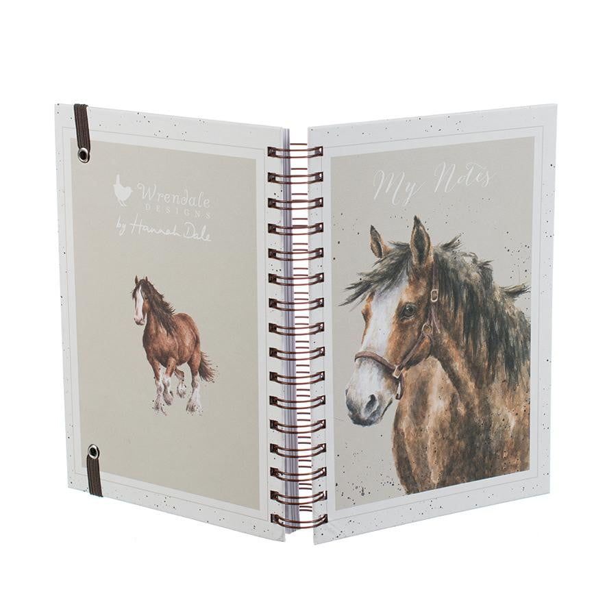 Wrendale Designs 'Spirit' Horse A5 Spiral Notebook - Hothouse