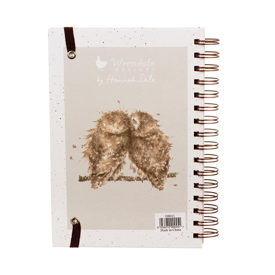 Wrendale Designs - Birds of a Feather Owl Spiral Notebook - Hothouse